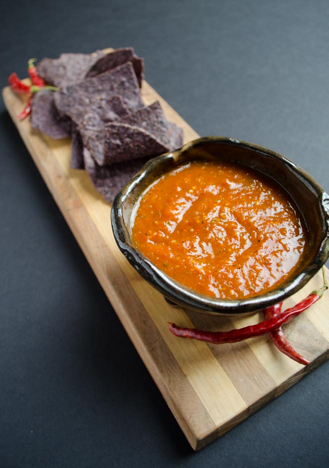chile de arbol salsa