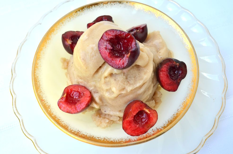 This recipe for Banana Cinnamon Ice Cream is a great healthy option made with almond milk. The combination of banana and cinnamon is a classic