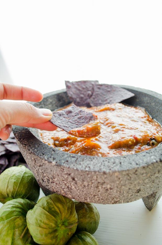 Chile morita salsa