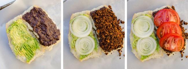 vegan chorizo torta