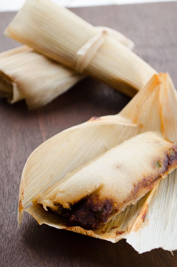 Vegan Potato Adobo Tamales