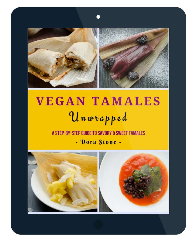 Making vegan tamales doesn't have to be complicated. With over 50 detailed pictures, this ebook will guide you step-by-step in the tamal making process.
