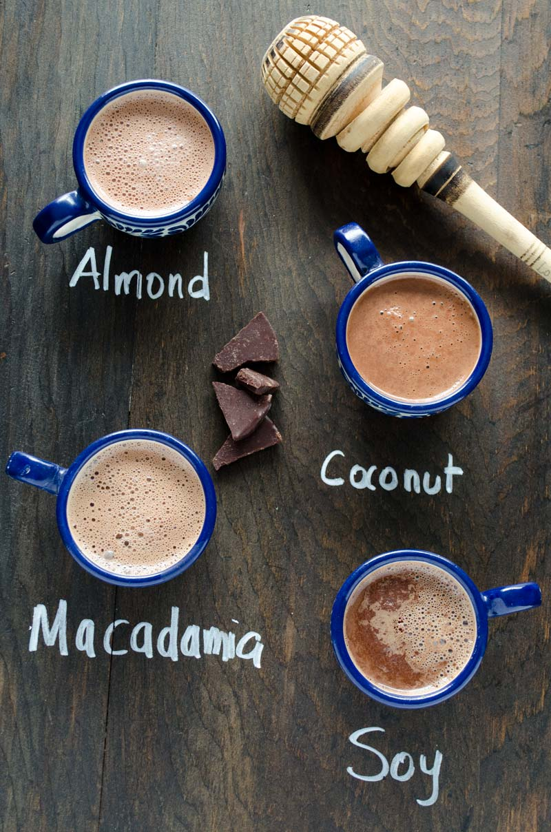 This creamy, foamy, rich, and delicious vegan Mexican hot chocolate has a hint a cinnamon and just the right amount of sweetness.