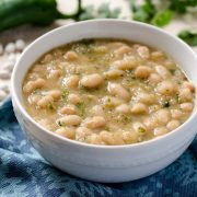 Tomatillo Poblano White Beans | Instant Pot Recipe