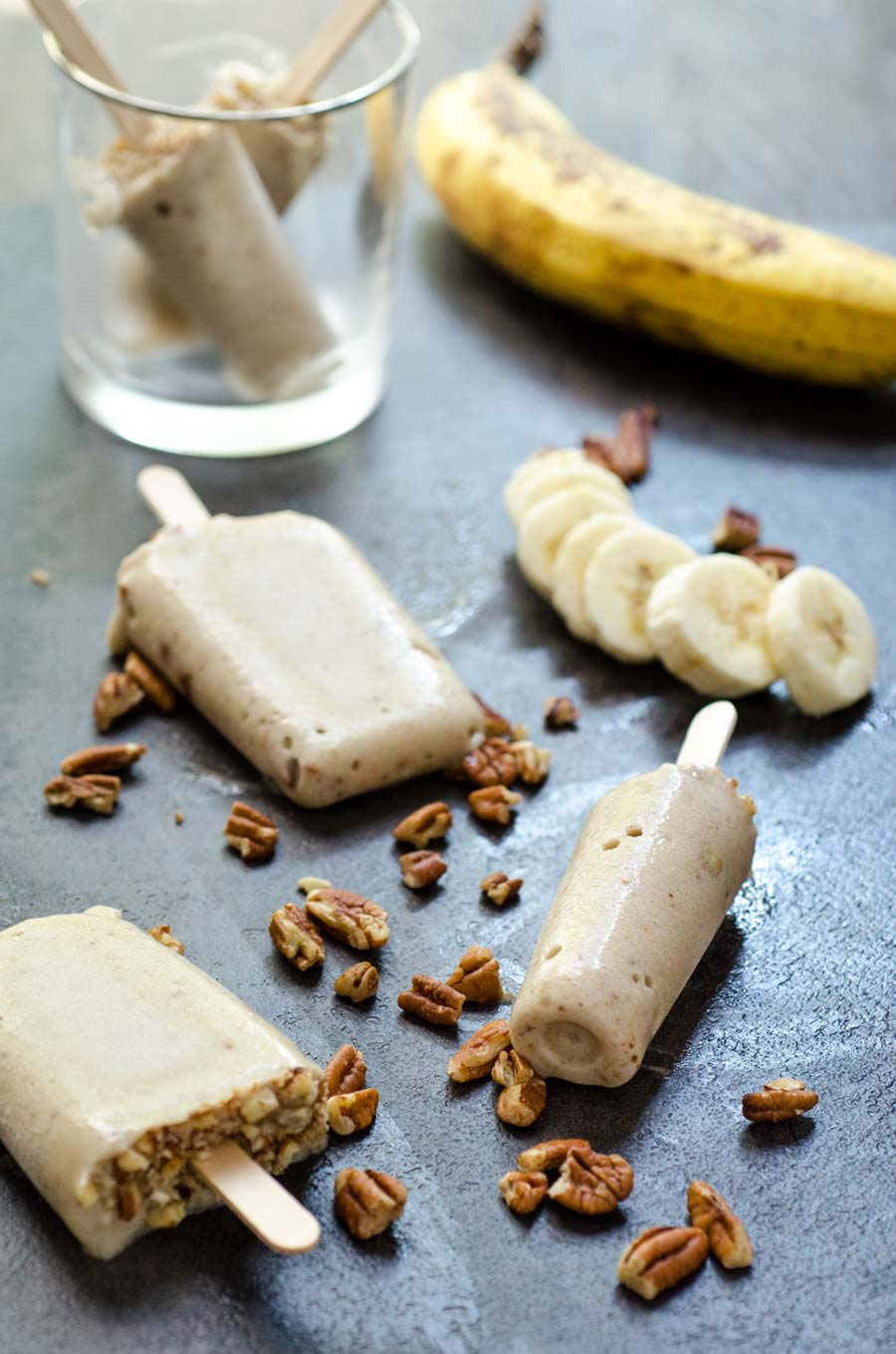 creamy banana pecan paletas dora s table vegan mexican