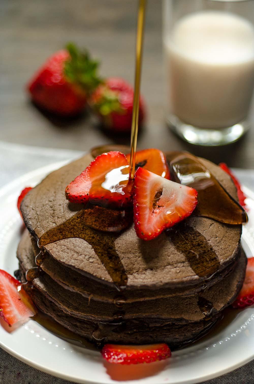 Tommy S Vegan Chocolate Strawberry Pancakes Dora S Table