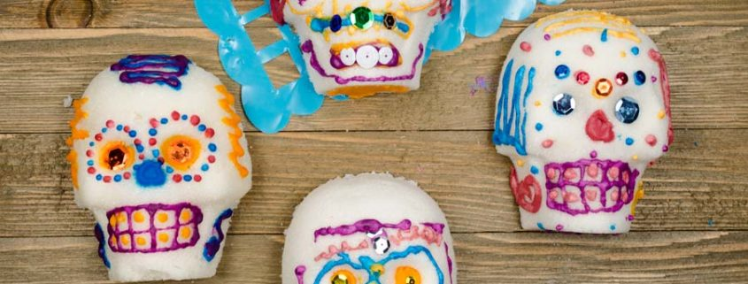 Making vegan sugar skulls for the Day of the Dead is one of our favorite family traditions. The kids love it, and the adults too!!!