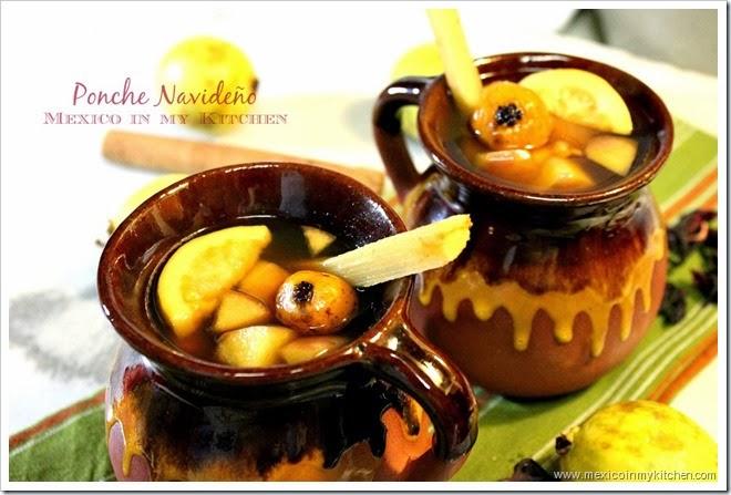 fruit punch in clay mugs
