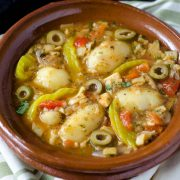 This vegan bacalao a la vizcaína is an adaptation of a Spanish classic, and is served in central and southern Mexico on Christmas Eve.