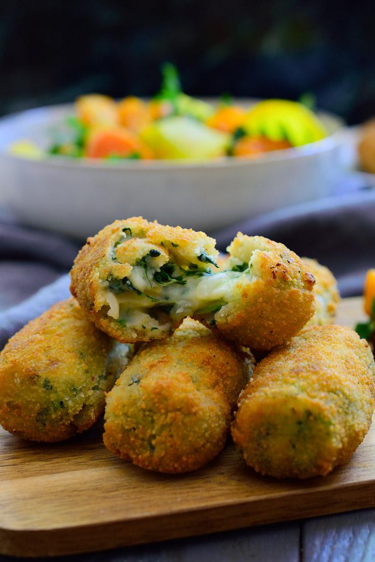creamy spinach croquettes