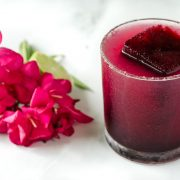 I love a good margarita! This spicy hibiscus margarita is the perfect combination of tart, sweet, and spicy. Plus you can't go wrong with tequila!