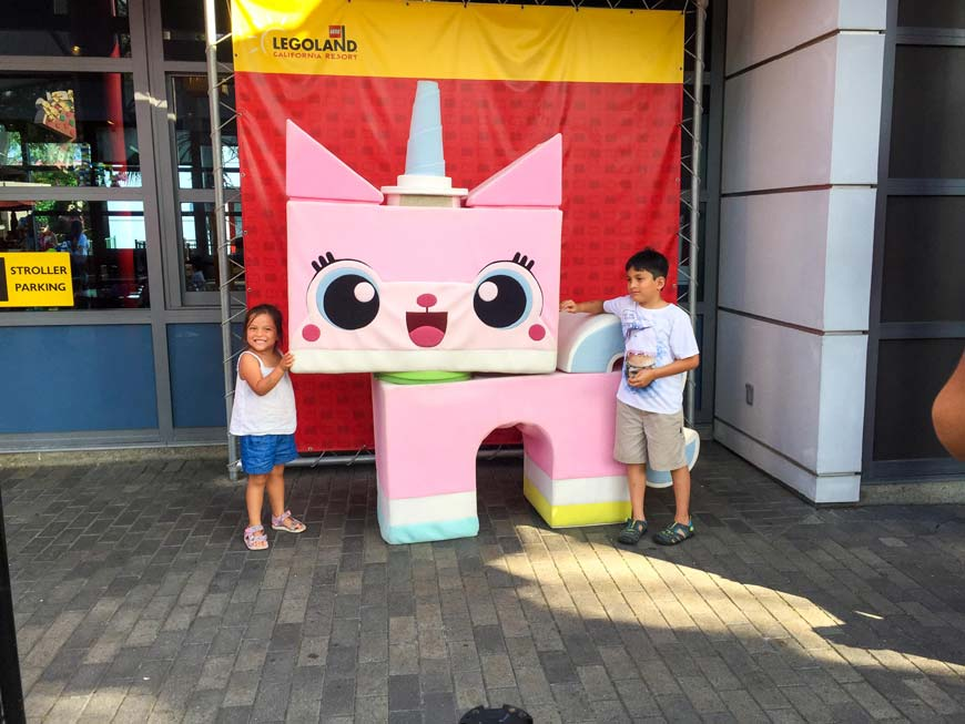 Children with unikitty Legoland california