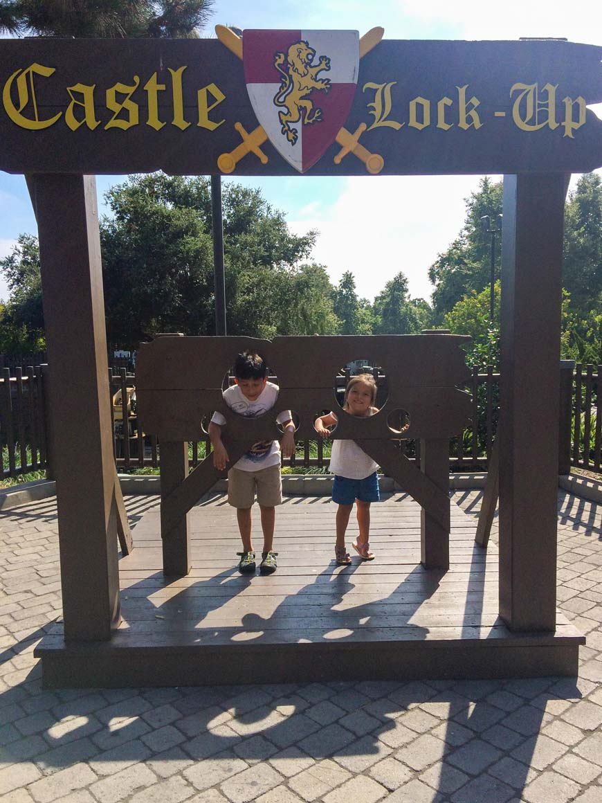 children in castle lock up Legoland california tips