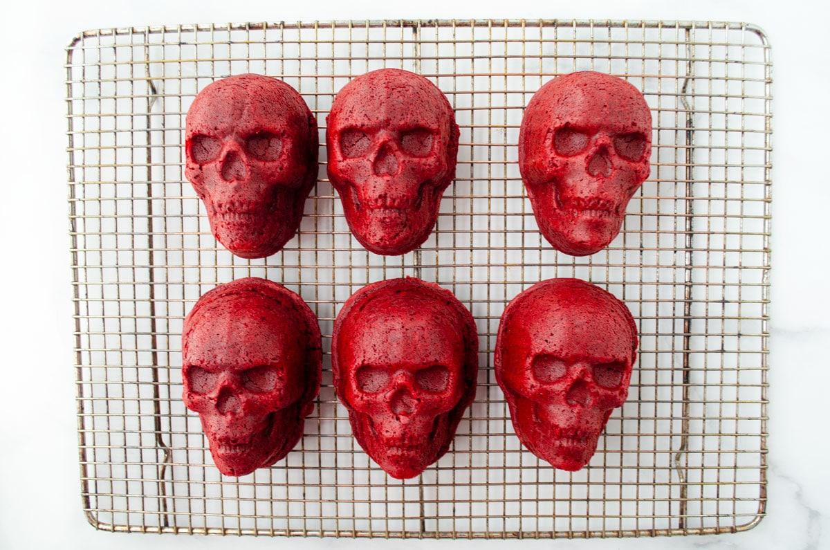 red velvet cake skulls