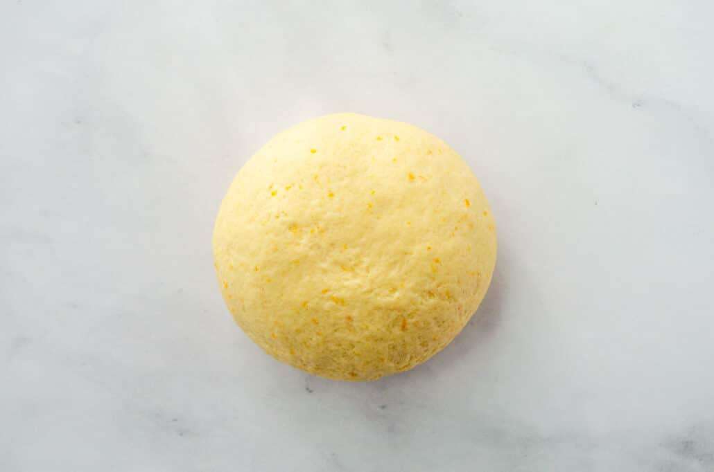 kneaded dough for buñuelos