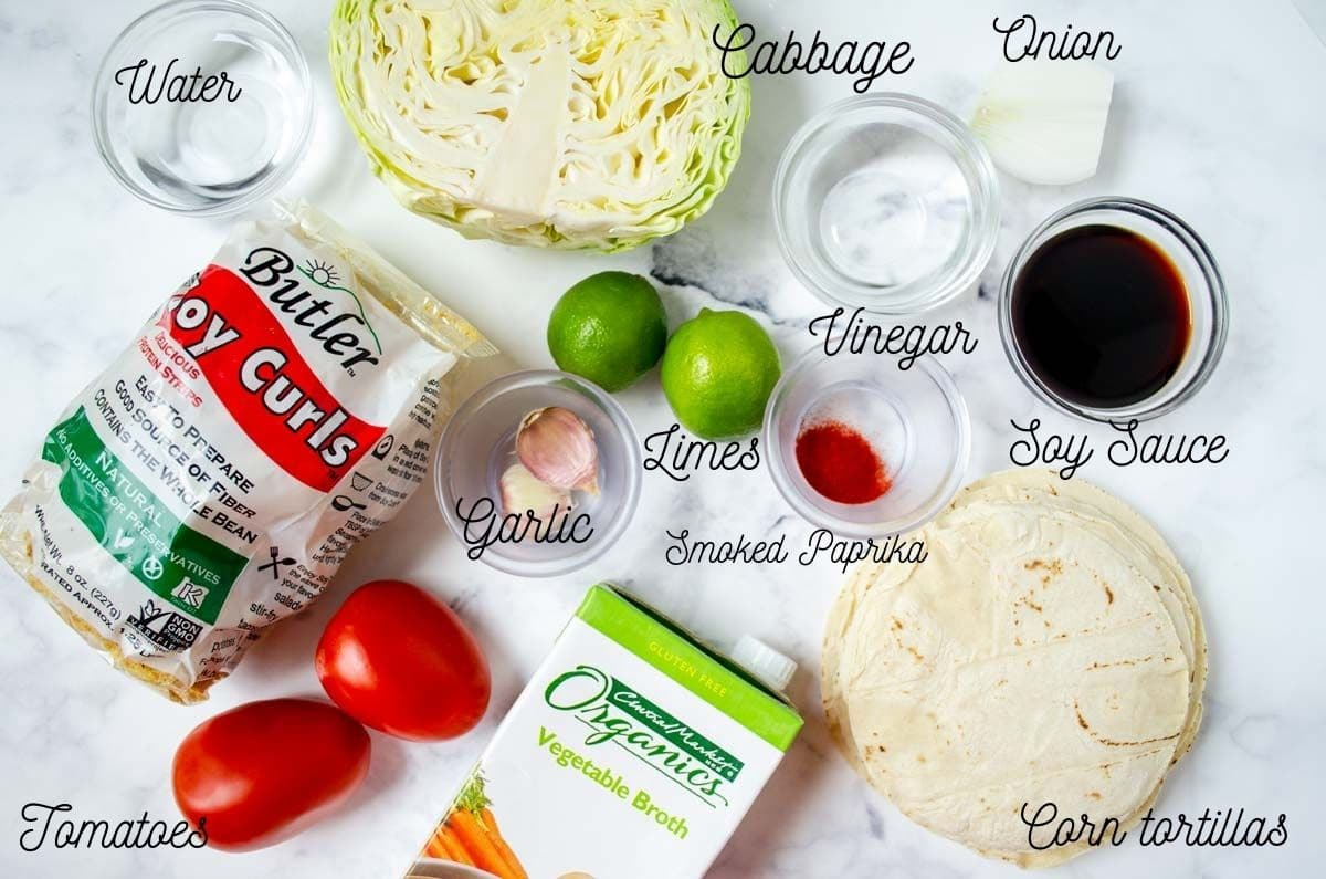 ingredients needed to make the tacos tapatios